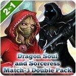Dragon Soul and Sorceress Match−3 Double Pack